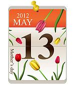 Calendar of mothers day 2012