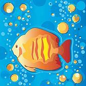 Tropical Fish Swimming Underwater