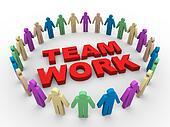 3d teamwork word