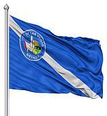 Waving Flag of USA city, Las Vegas
