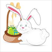 Vector Illustration of Easter Bunny