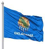 Waving Flag of USA state Oklahoma