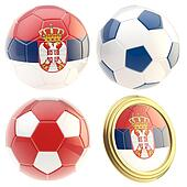 Serbia football team attributes isolated