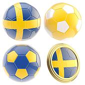 Sweden football team attributes isolated