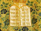 Jerusalem 10 Commandments on silk 2012