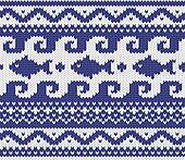 knitted marine pattern