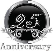25 Years happy birthday vector