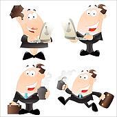 Cartoon Office Employees Vector