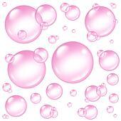 Pink Bubbles Design Elements