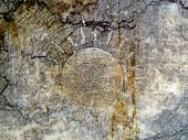 sunface etching on stone