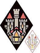 Art Deco Castle Insignia