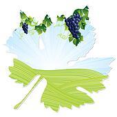 wine leaf frame