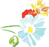Wildflowers Clip Art - Royalty Free - GoGraph