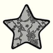 Lace star applique