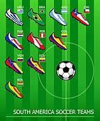 South American soccer teams