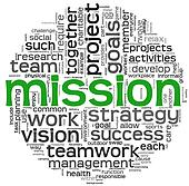 Mission concept in word tag cloud