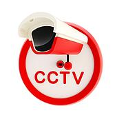 Closed circuit television alert sign