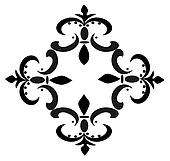 Black Group of Fleur De Lis's