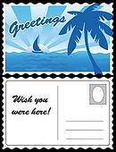 Cool Tropical Travel Postcard