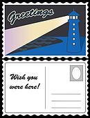 Lighthouse Ocean Travel Postcard