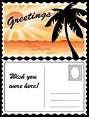 Tropical Landscape Postcard