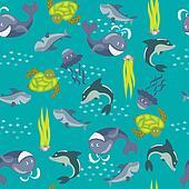 Marine seamless pattern2
