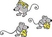 Mice Carrying Cheese