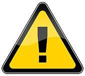 Warning danger sign