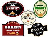 Set of bakery label