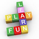 Crossword of learn, play and fun