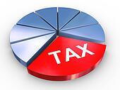 3d tax pie chart