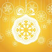 Yellow Christmas greeting card