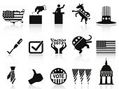 black election icons set