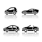 Set of transport icons - Vehicles