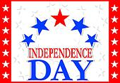 Independence Day Design - usa greetings banner