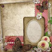 Vintage background with paper frame
