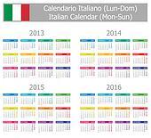 2013-2016 Type-1 Italian Calendar
