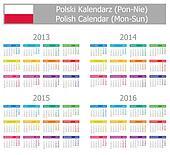 2013-2016 Type-1 Polish Calendar