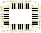 Piano Keyboard Frame w/Notes