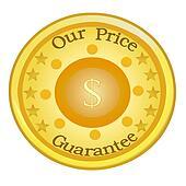 Price Guarantee Seal, Golden