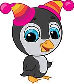 Illustration of cute penguin in two hats