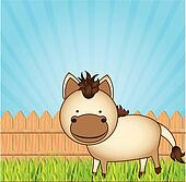 cute cartoon horse