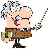 Professor Using A Pointer Stick