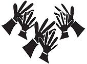Clapping Hands Silhouette