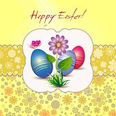 Easter card with flower