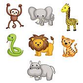 Wild animals cartoon