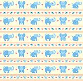 Elephant Blue Fun Pattern