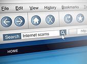 Internet scam.