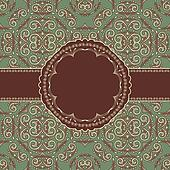vector vintage seamless floral pattern with frame for your text