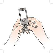 Texting Clip Art - Royalty Free - GoGraph